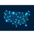 pixel USA map with spot lights vector image vector image