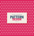 polka white dots on pink background vector image vector image