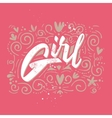 Print t-shirt for Girl vector image vector image