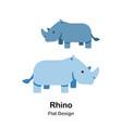 rhino flat icon vector image