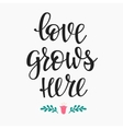 Romantic love lettering typography vector image