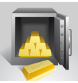 Safe with gold vector image vector image