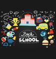 school chalkboard composition vector image