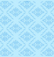 seamless damask pattern blue background vector image