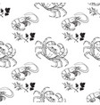 seamless pattern of outline crab and shrimp vector image vector image