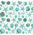 Seashells Ocean Love Background vector image vector image