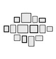 set empty frames for photos or pictures hanging on vector image