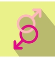 Sign of two men flat icon vector image vector image