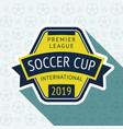 soccer cup badge vector image vector image