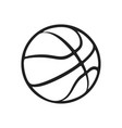 sport icon basketball ball simple flat logo vector image