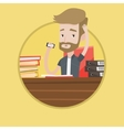 Stressed man working in office vector image vector image
