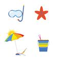 summer icon art vector image vector image