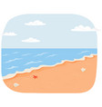 summer travel background sunny sandy beach vector image