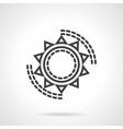 Sun symbol black line icon vector image vector image