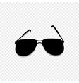 sunglasses icon isolated on transparent background vector image vector image