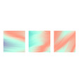 tender pastel mint and pink colors backgrounds set vector image vector image