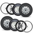 vehicle wheels double set vector image vector image