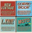 vintage fonts set retro style letters vector image vector image