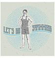 vintage man poster vector image vector image