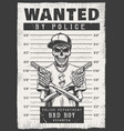 wanted modern poster vector image vector image