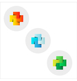 wedged squares vector image