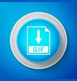 white gif file document icon download gif button vector image vector image
