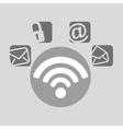 wifi bubble speech social media vector image vector image