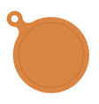 wooden round board flat icon isolated vector image vector image