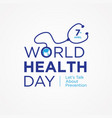 world health day quote vector image vector image