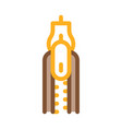 zipper fly icon outline vector image