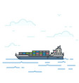 barge boat vector image