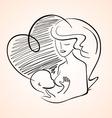 Mother Breastfeeding Baby Child vector image