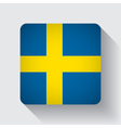 Web button with flag of Sweden vector image