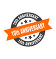 10th anniversary sign 10th anniversary vector image vector image