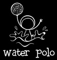 A water polo sports vector image
