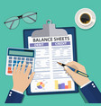 accountant with report vector image vector image