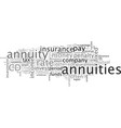 annuities vector image vector image