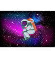astronaut thinking or searching solution on smooth vector image vector image