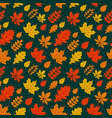 autumn background with colorful leaves seamless vector image vector image