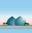 baghdad iraq city skyline landmark al-shaheed vector image vector image