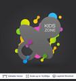 black badge kids zone sticker vector image