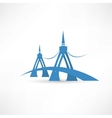 bridge over the river abstraction icon vector image vector image