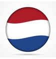 button with waving flag of Netherlands vector image