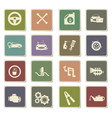 car shop icon set vector image