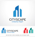 cityscape logo template design vector image