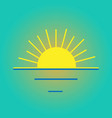 color icon sunset sunrise symbol vector image vector image