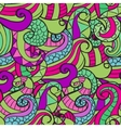 colorful decorative seamless hand drawn doodle vector image vector image