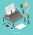 copywriting flat isometric concept vector image