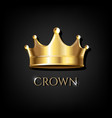 crown with black background vector image vector image