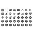 cryptocurrency trading icon set vector image vector image